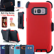 Samsung Galaxy Note8 S8+ Belt Clip Holster Case Hybrid Armor Rugged Defend Cover