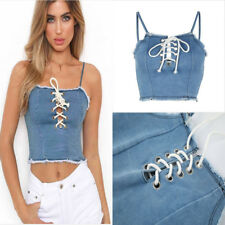 Blouse Sleeveless Fashion Women Casual Bandage Tank Tops Vest Crop Tops Shirt