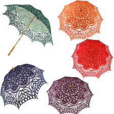 Handmade Lace Flower Embroidery Umbrella Craft Parasol Party Photo Props