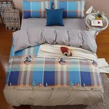 Rodeo Checked Queen Quilt Cover + Fitted Bed Linen Sheet Set