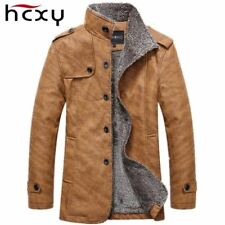 Mens Jacket - Leather Windbreaker with Wool Lining