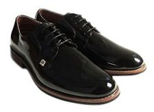 NEW MENS LACE UP PATENT OXFORDS CLASSIC LEATHER LINED DRESS SHOES FORMAL BLACK M