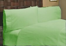 Sage Striped Complete Bedding Collection 1000tc Egyptian Cotton Queen Size