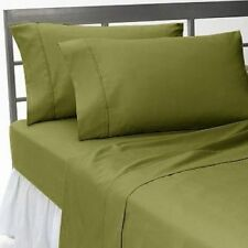 1000 TC 100%Egyptian Cotton All UK Size Bedding Item Moss Solid/Striped