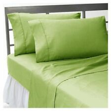 1000 TC 100%Egyptian Cotton All UK Size Bedding Item Sage Solid/Striped