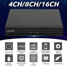 LESHP 4CH/8CH/16CH DVR AHD NVR HVR CCTV Security Digital Video Recorder H.264 OZ