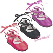 """Ballerina Flats ~~ Lace up ~~ by Sophia's to fit 18"""" American Girl type dolls"""