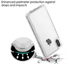 Apple iPhone X 10 7 8 6 s / Plus Hybrid Rubber Silicone Gel TPU Clear Case Cover