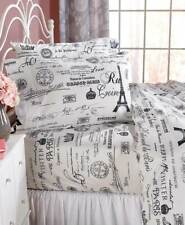 New Vintage Paris Eiffel Tower Comforter Set & Curtains Twin Full Queen King