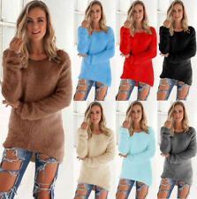 UK Womens Casual Loose Long Sleeve Flared Sweater Pullover Sweatshirt Blouse Top