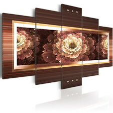 5 Panel Flower Canvas Print Artwork Contemporary Abstract Wall Decor Painting