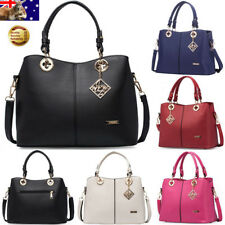 Lady PU Leather Handbag Shoulder Messenger Bag Satchel Zipper Tote Hobo Purse AU