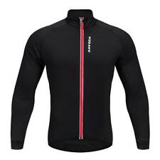 Cycling Jersey Long Sleeve Bike Bicycle Jacket Outdoor Sportswear Black Red