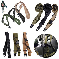 Adjustable Tactical 1/2/3 Point Sling For Bungee Rifle Gun Sling System Strap