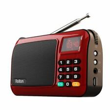 Rolton W405 Portable Mini FM Radio Speaker Music Player TF Card USB For PC iPod