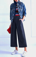 NWT £168 Designer J Crew Collection Cropped Wool Flannel Wide Leg Pants