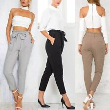 Women's Slim OL Formal Casual Long Pants Bow-knot Harem Summer Office Trousers