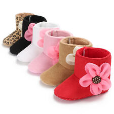 Toddler Girl Cotton Crib Shoes Newborn Baby Flower Soft Sole Boots Sneakers