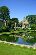 Cotswold Abbey Garden Lily Pond Reflections Art Photograph, Mounted Print, Cards