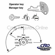Sharp XE-A102 and XE-A106 Cash Register Key - Single Key