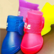 Dog Candy Rain Boots Protective Rubber Pet Waterproof Shoes Booties 8 Colors New