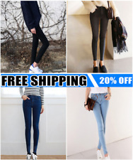 Women High Waist Skinny Jeggings Pencil Pants Slim Stretch Denim Jeans Lot BS