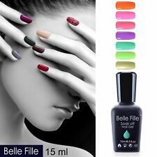 BELLE FILLE Nail Gel Soak off UV LED Nail Polish Gel Base Top Coat 15ml Varnish