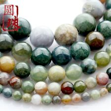 1Strands Natural Indian Agate Ball Loose Beads (4.6.8.10.12) 15.5inch B7336