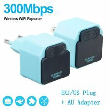 300Mbps WiFi Repeater Wireless Signal Range Extender Booster Amplifier LOT BS