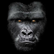 Majestic Gorilla Funny Animal T-Shirt Big In Your Face Silver Back Tee