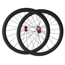 Pro carbon bicycle wheels 50mm clincher wheelset with Sapim CX-RAY spoke