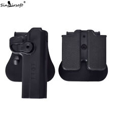 Tactical Military Retention Rotate Right Hand Holster Colt 1911 w/Magazine Pouch