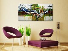 Hand-pained Modern Abstract Decor Wall Art Oil Painting on Canvas (with frames)