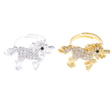 Blesiya Crystal Charm Unicorn Ring Mystical Finger Ring for Adult Fancy Dress