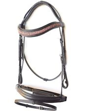 New Designerl Browband Dressage / Event Bridle w Web Reins Full Horse