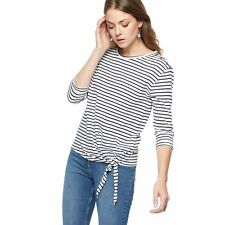 The Collection Womens Navy Striped Tie Front Top From Debenhams Size