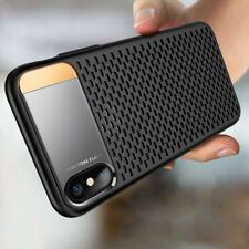 Shockproof Mesh Hard Bumper Metal Stand Case for iPhone X 8 7 Plus Cover Shell