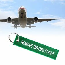 Remove Before Flight Key Chain Embroidery Key Ring Key Finder For Car Door EN
