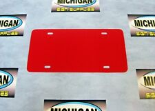 Red Plastic License Plate Blank .050-Create Your Own Designs!!