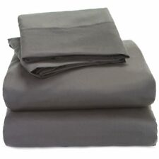 Extra Deep Pocket 1Qty Fitted Sheet Only 100% Cotton 1000 TC Dark Grey Solid