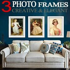 3Pcs A3 Photo Frame Set White/Black Picture Wall Home Decor Art Gift Present ONl