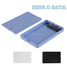"USB 3.0 2.5"" SSD HDD External Enclosure Case Hard Disk Drive Box Tool-free Q5K3"