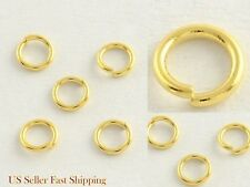 Gold Plated 5mm x 1mm 18 Gauge Stainless Steel Open Jump Rings Findings Beading