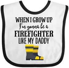 Inktastic Future Firefighter Like Daddy Baby Bib Fireman Volunteer Childs Boys
