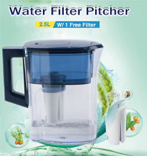 Drinking Water Pitcher Jug+Filter Carbon Purifier Odor Chlorine Remover 2.5L