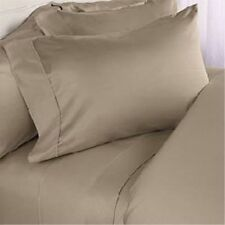 Duvet Cover Collection 1000TC Egyptian Cotton US Size Beige Solid/Stripe