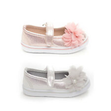 New Soho Kids Girl Infants Slip on Sparkle flower party casual shoes All Sizes