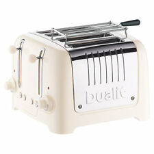 Dualit Lite 4-Slice Toaster with Warming Rack, Canvas White