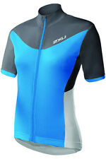 NEW 2XU CYCLE JERSEY ELITE X TOP WOMEN SMALL S TRIATHLON CYCLING CHARCOAL BLUE