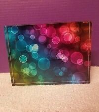 Op Art Optical Space Age Illusion Kinetic Sculpture Lucite Acrylic Block 2669